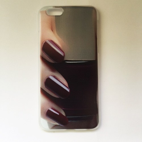 nail polish iphone case red