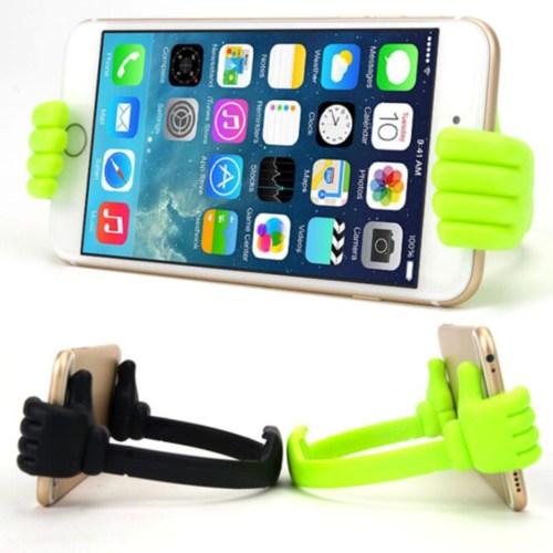 3d hands phone stand green 4