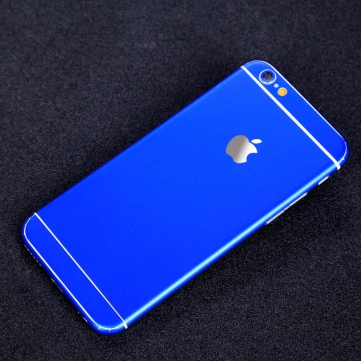 Matte Royal Blue iPhone Sticker Skin Cover