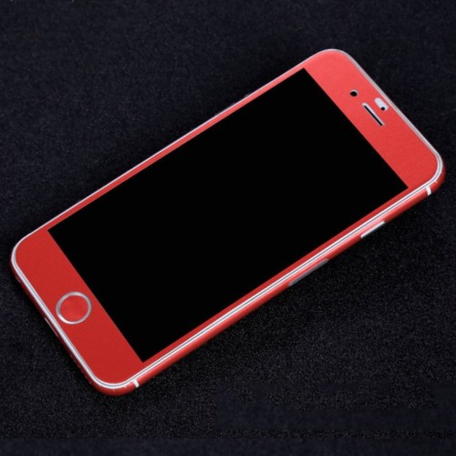 matte iphone skin red front