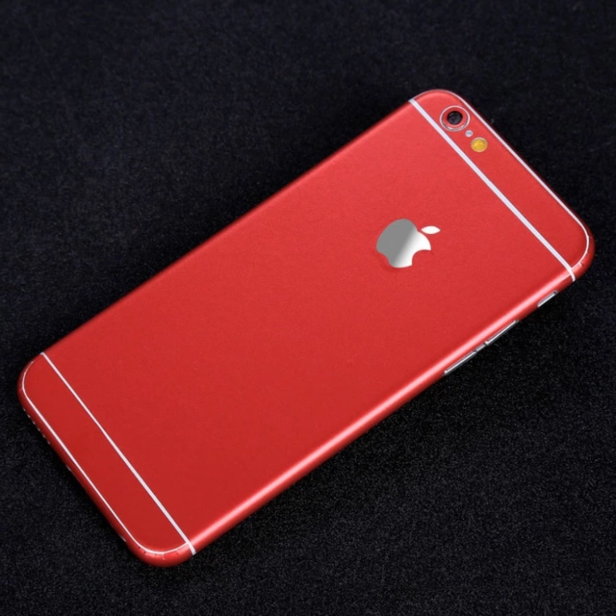 Matte Red iPhone Sticker Skin Cover