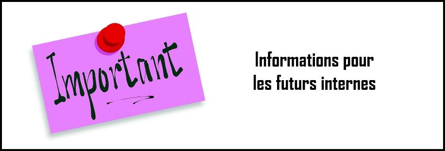 Informations pour les futurs internes