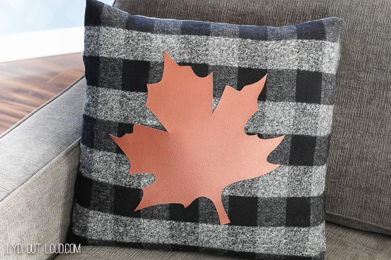 Fall DIY No-Sew Pillow with Buffalo Check