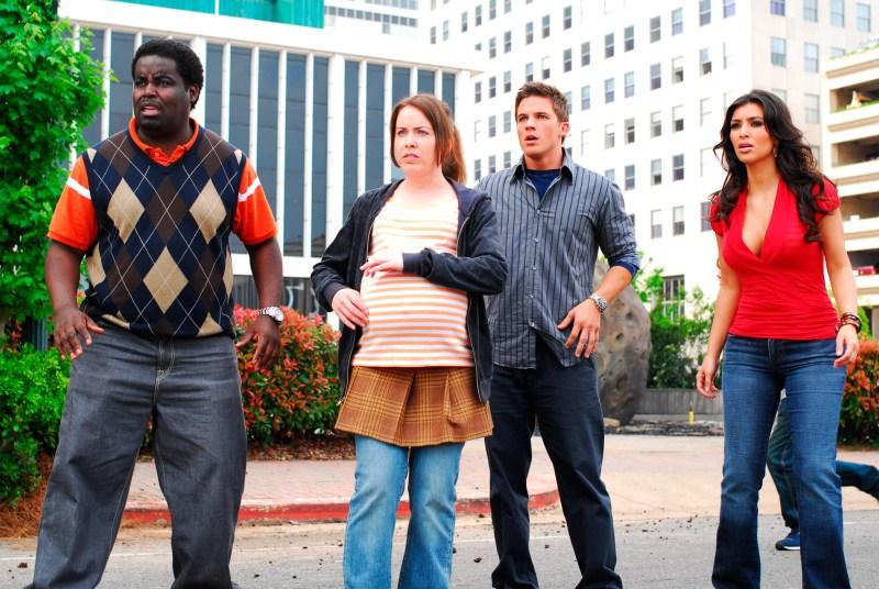 Jon Barren Farmer/Lionsgate Publicity<br /> Calvin (Gary 'G-Thang' Johnson), Juney (Crista Flanagan), Will (Matt Lanter) and Lisa (Kim Kardashian)  in Disaster Movie
