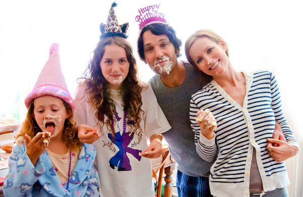 this is 40 movie review - Iris Apatow, Maude Apatow, Paul Rudd and Leslie Mann