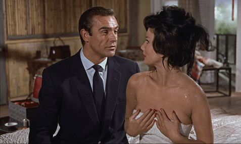 Dr. No Sean Connery as OO7 James Bond and Zena Marshall as Ms. Tao