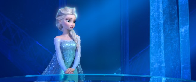 Disney Elsa in her palace.