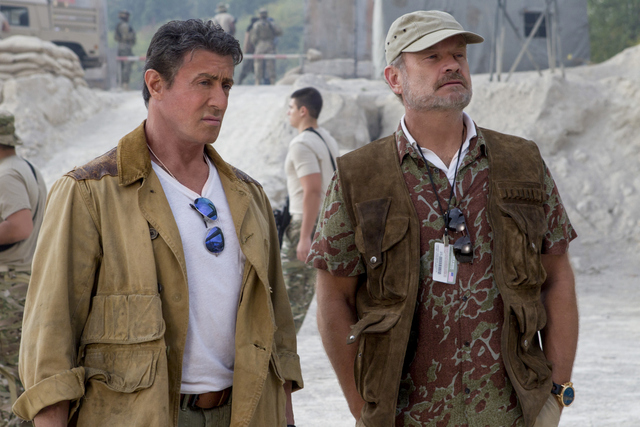 The Expendables 3 - Sylvester Stallone and Kelsey Grammer
