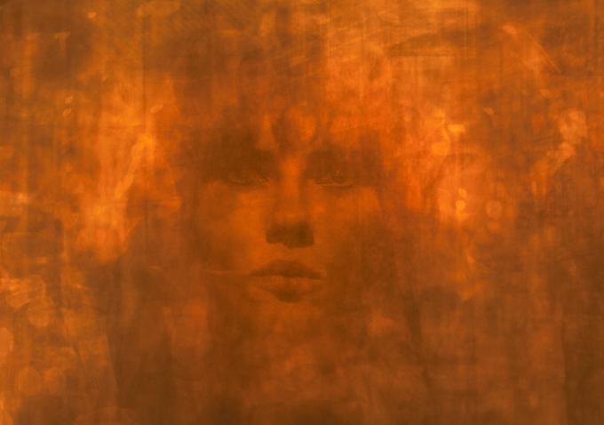 Under the Skin movie - orange screen