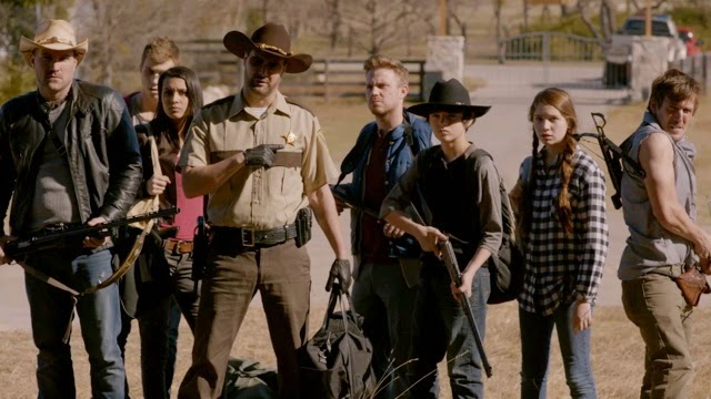 The Walking Deceased - main cast at the farm
