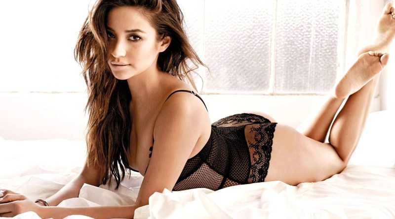 Shay Mitchell - black lingeries