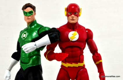 DC Icons The Flash figure review -hanging with Green Lantern