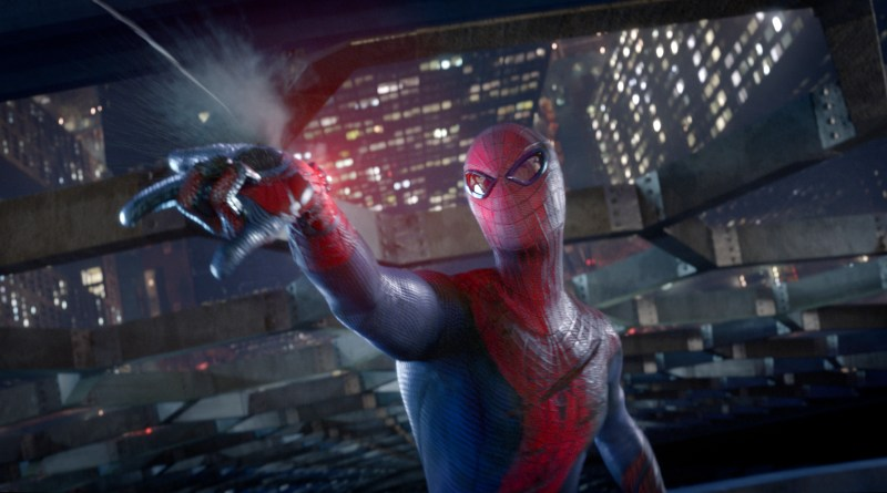 """Andrew Garfield stars as Spider-Man in Columbia Pictures' """"The Amazing Spider-man,"""" also starring Emma Stone."""