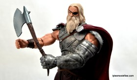 Marvel Legends Odin and King Thor review - King Thor holding axe