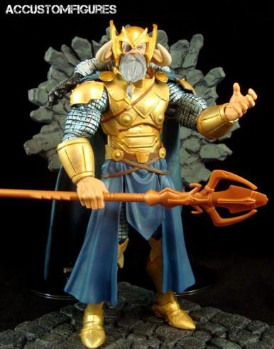 Marvel Legends Odin and King Thor review - Odin custom