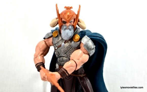 Marvel Legends Odin and King Thor review - Odin pointing staff