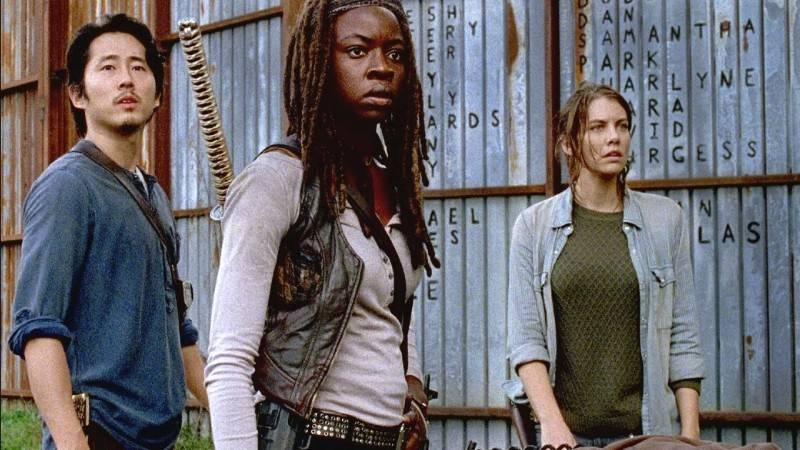 the walking dead -east review - glenn, michonne and maggie_2