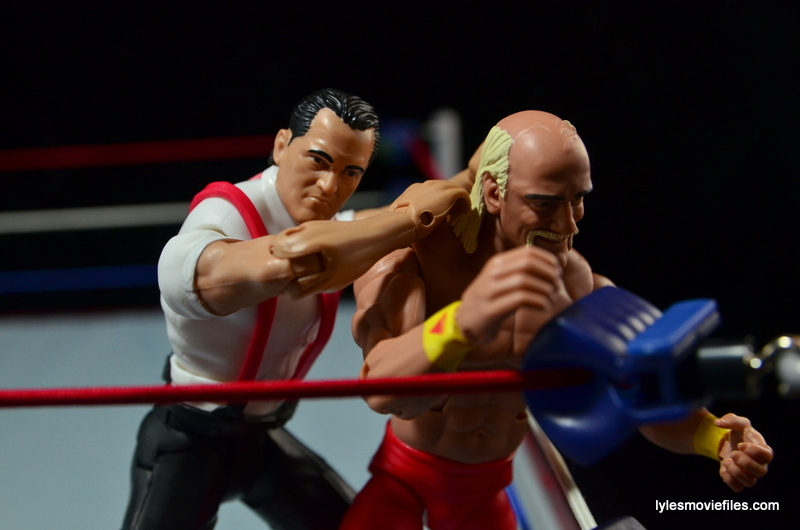 WWE IRS Mattel Elite figure review -turnbuckle smash to Hogan