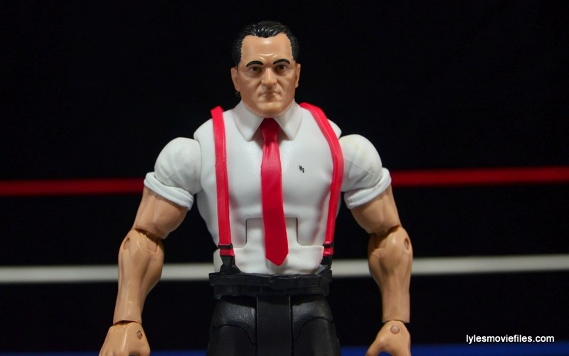WWE IRS Mattel Elite figure review -wide shot