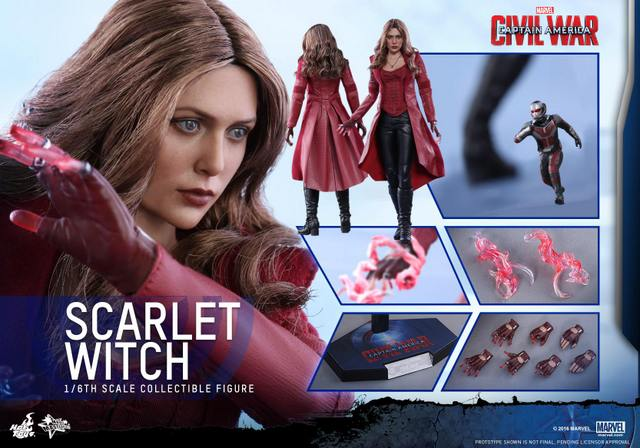 Hot Toys Scarlet Witch figure -collage