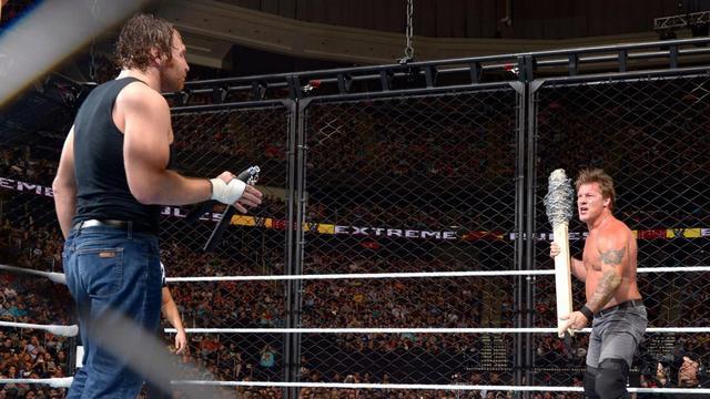 WWE Extreme Rules 2016 - Dean Ambrose vs Chris Jericho