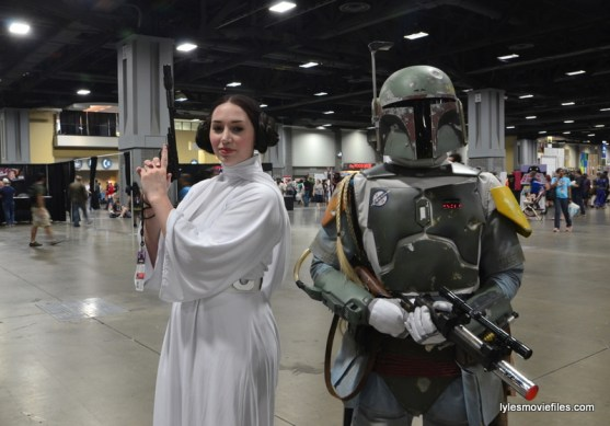 Awesome Con cosplay Day 2 -Star Wars Princess Leia and Boba Fett
