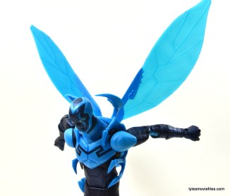 DC Icons Blue Beetle figure review -wings up