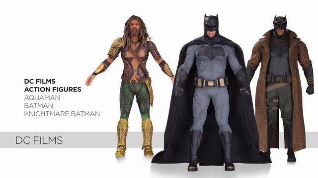 DCC DC Films - Aquaman, Batman, Knightmare Batman