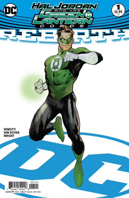 Hal Jordan and GLC Rebirth issue 1 review variant cover