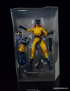 Marvel Legends Hellcat figure review -accesories in tray