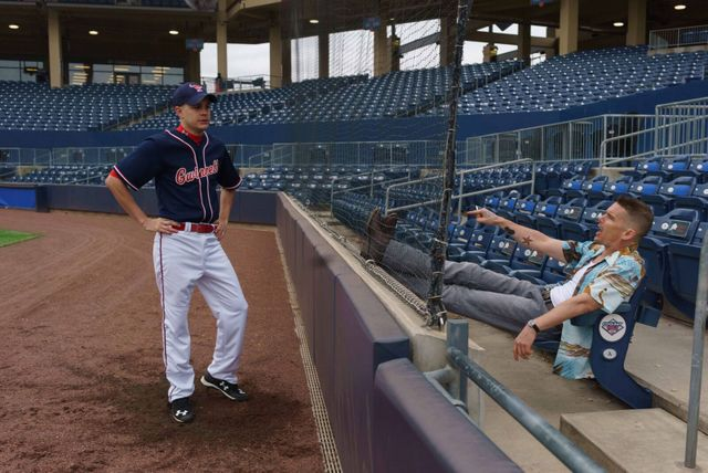 The Phenom movie review - Johnny Simmons on the field and Ethan Hawke