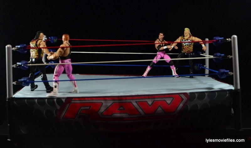 WWE Elite 43 Hart Foundation figures -Irish Whip to the Nasty Boys