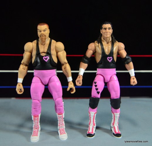WWE Elite 43 Hart Foundation figures -straight