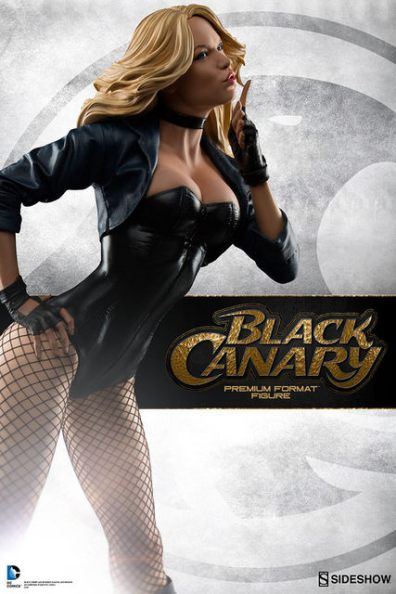 dc-comics-black-canary-premium-format-figure-side shot with logo