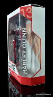 DC Icons Harley Quinn figure review -side package