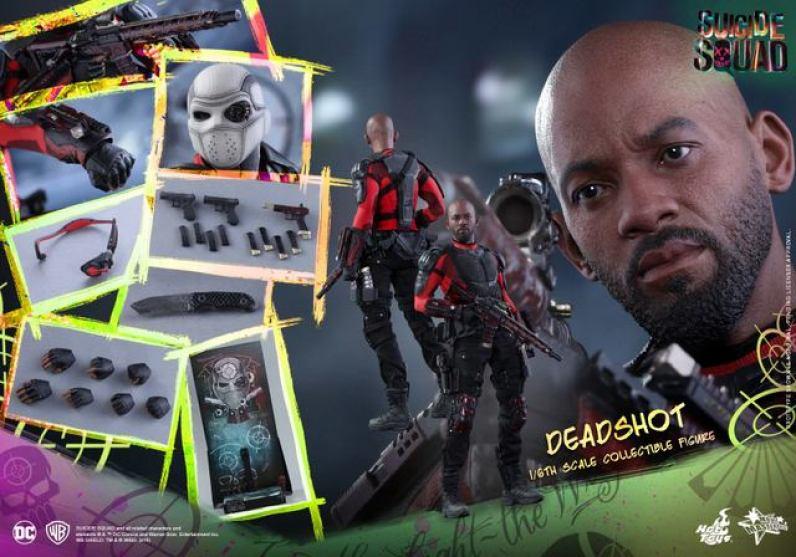 Hot Toys Suicide Squad Deadshot figure -collage