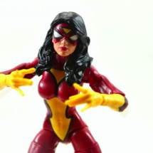 Marvel Legends Spider-Woman figure review - close