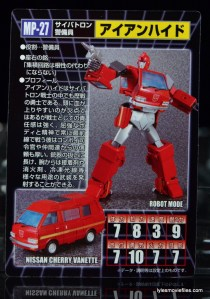 Transformers Masterpiece Ironhide figure review -card back