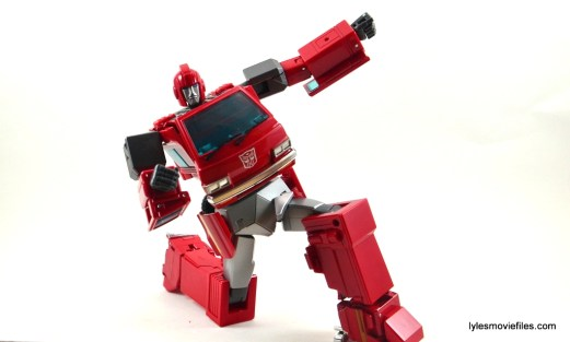 Transformers Masterpiece Ironhide figure review - on one knee