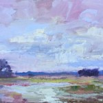 Stormy Weather over the Marsh 8x16