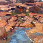 Vernal Pond and Pink Granite 8x16