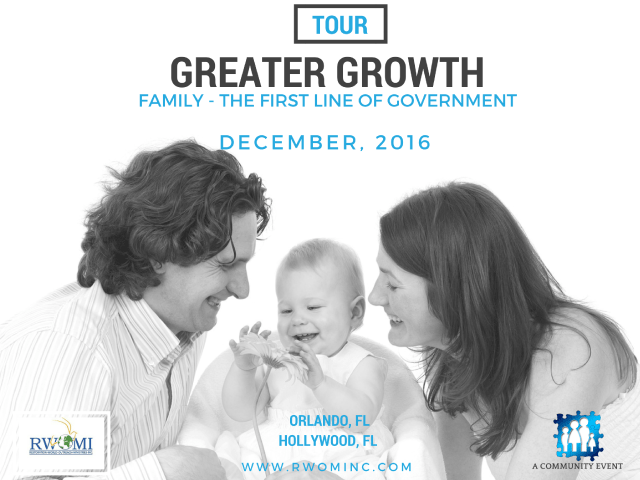 FAMILY – THE FIRST LINE OF GOVERNMENT THE TOUR
