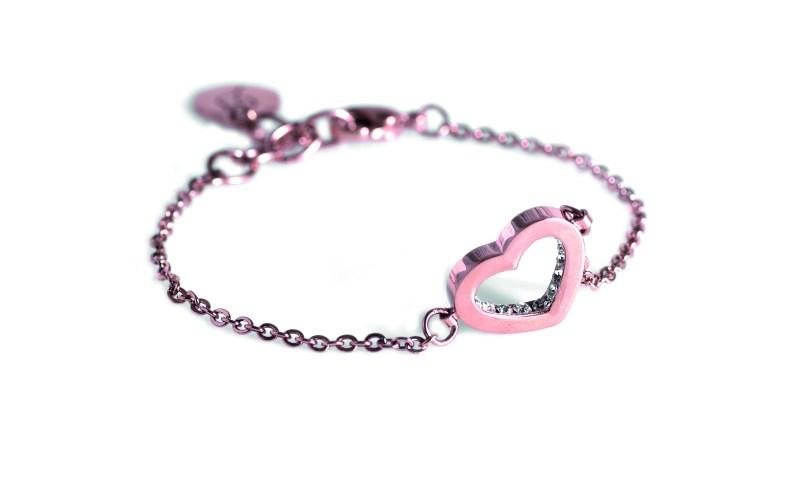 Armband med hjärta i roséguld från Edblad