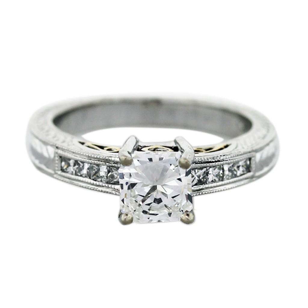 engagement ring eye candy square engagement rings square diamond wedding rings Natalie K Radiant Cut Diamond Engagement Ring princess
