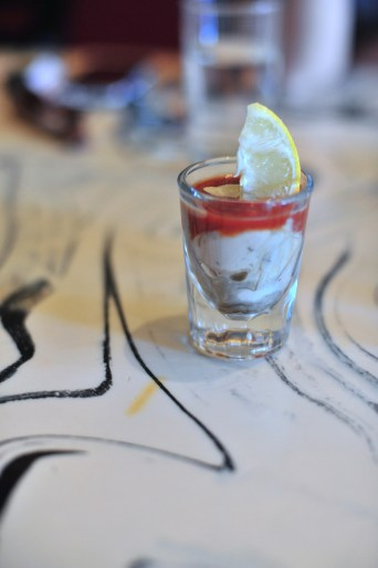 Oyster shooter, more delicious than it sounds