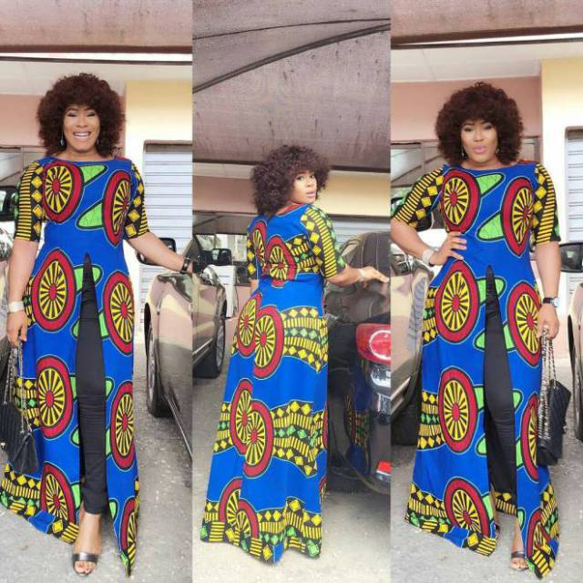 Latest Ankara Long Gown Styles For Beautiful Ladies
