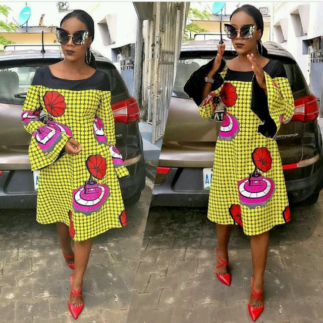 Ankara Short Flare Gowns 2017 2018 To Spice Up