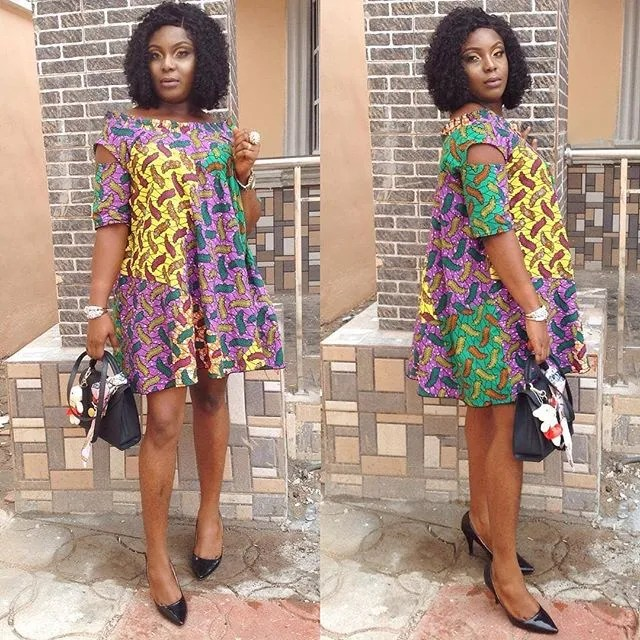 2018 Pictures of Simple Short Gown Ankara Styles