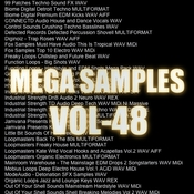 Mega samples vol 48 logo icon