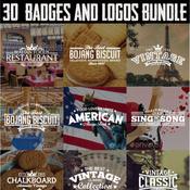 30 badges and logos bundle 12707920 icon